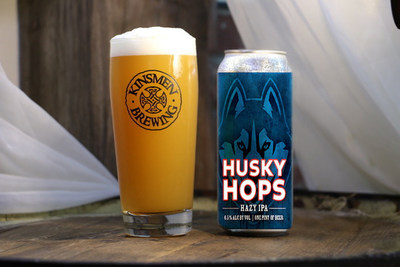 Husky Hops, a new IPA developed by Kinsmen Brewing of Milldale, CT in partnership with the University of Connecticut Athletics Dept.