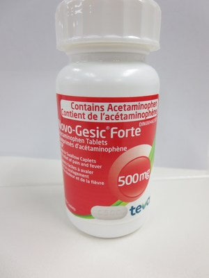 Novo-Gesic 500 mg tablet 100 count bottle (CNW Group/Health Canada)