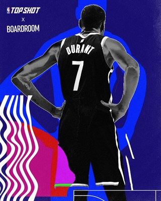 Kevin Durant and Rich Kleiman's Boardroom and Dapper Labs today announced a brand partnership that will feature multiple touchpoints to bring Dapper Labs' NBA Top Shot platform to life in unique ways with prominence for Durant across the platform. (CNW Group/Dapper Labs, Inc.)