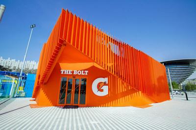 The Bolt (Gatorade ®) pavilion at Expo 2020 Dubai